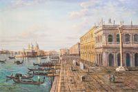 Вольная копия картины М. Мариески. Вид на пирс перед Палаццо делла Зекка