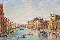 Вольная копия картины А. Каналетто. Гранд-канал, Венеция, взгляд с юго-востока
