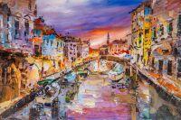 Прогулка по каналам Венеции. Закат