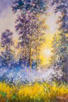 Гуляет солнце в дремлющем лесу...