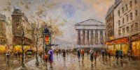 Копия картины Пейзаж Парижа Антуана Бланшара Rue Royal Madeleine. N2