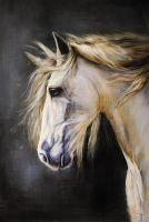 Портрет коня с золотой гривой