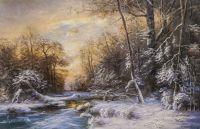 Зимний пейзаж. Вдоль незамерзающего ручья N3