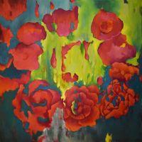 МОЛЕКУЛА 110*110 cm, оригинальная картина маслом