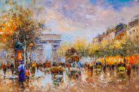 Пейзаж Парижа Антуана Бланшара Champs Elysees, Arc de Triomphe N2 (копия)