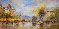 Пейзаж Парижа Антуана Бланшара Boulevard de La Madeleine N2 (Бульвар де ла Мадлен), копия