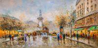 Пейзаж Парижа Антуана Бланшара Place de la Republic N2, копия