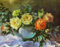 Розы в чайнике