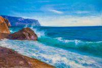 В бирюзовом море