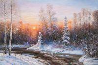 Зимний пейзаж. Вдоль незамерзающего ручья N4