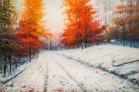 По снежной дороге в ноябре