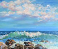 Картина с морем маслом на холсте
