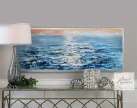 Лазурное утро, картина с морем