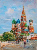 Летняя Москва. Вид на Храм Василия Блаженного