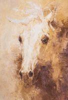 Портрет белой лошади. Дымка